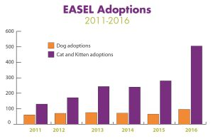 Measuring Our Success in Dog and Cat Adoptions at EASEL Animal Rescue League